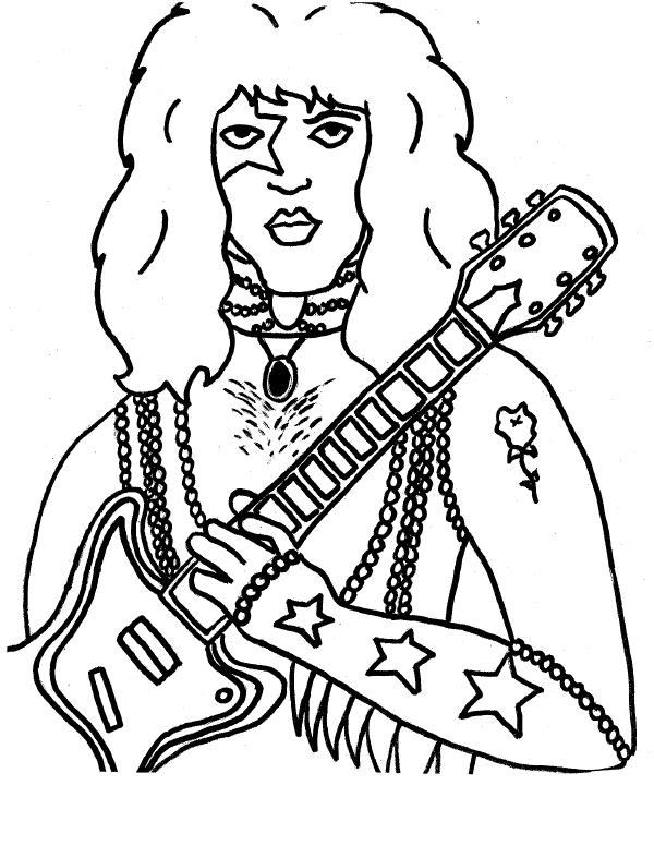 coloring pages of rock bands - photo#19