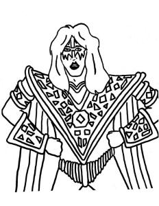 kiss band coloring pages | Ace Frehley